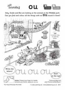Jolly Phonics ou colouring sheet